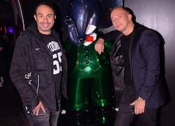 Superbe soirée pour la fiac a l'arc a Paris avec Laurent Bliah, Peter !