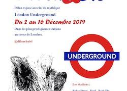 Dilan expose au métro de Londres