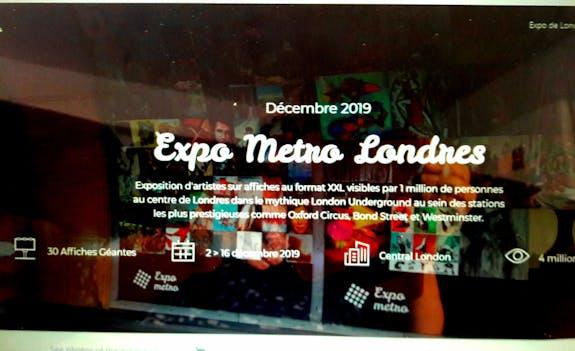 Expo-métro à Londres du 2 au 16 Décembre 2019