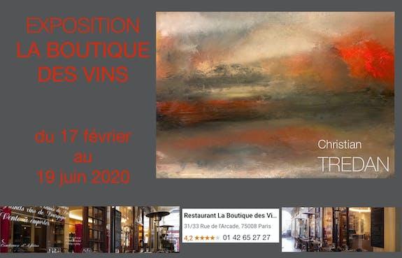 Exposition au Bar à vins Paris 75008