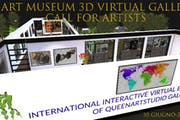 Exhibit in Art Museum 3d virtual gallery expo pro-emergency covid19