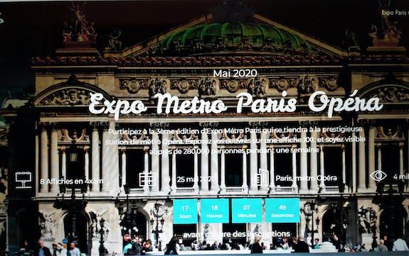 Expo-métro Paris Opéra du 19 au 25 mai 2020