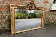 Pair of Antique Mirrors, French Mirrors at Cleall Antiques, West Sussex, uk