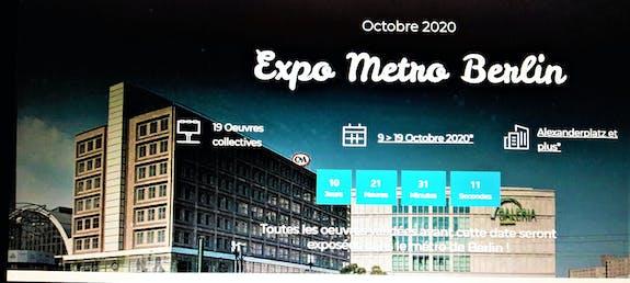 Expo-métro à Berlin du 9 au 19 Octobre 2020