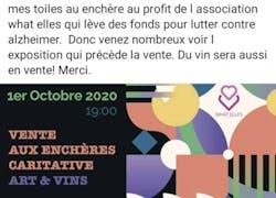 Vente au enchère au profit de France Alzheimer Perpignan