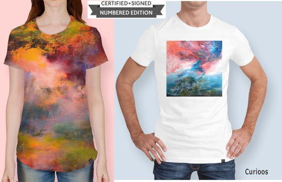 My artworks are now T-shirts! / Mes peintures sont maintenant des Tshirts!