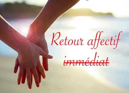 Retour affectif rapide de l'être aime