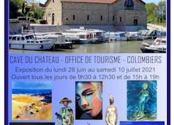 Exposition à la Cave du Chateau de Colombiers