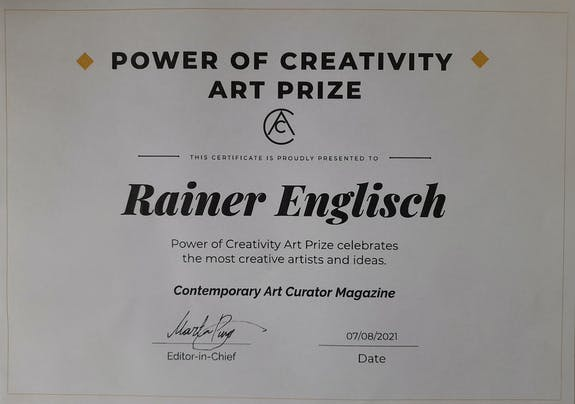 Power of Creativity Art Prize to Rainer Englisch